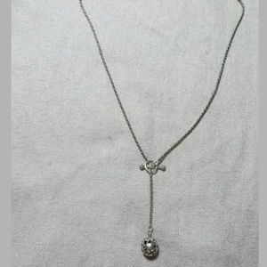 Silpada sterling silver lariat ball necklace